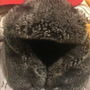 Real fur hat